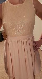 Forever 21 blush sequin dress